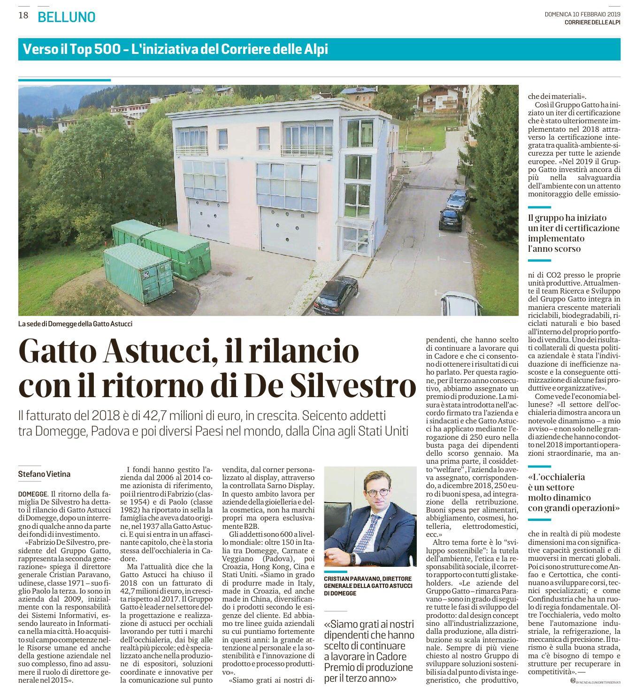 Il rilancio di Gatto Astucci – Il Corriere delle Alpi